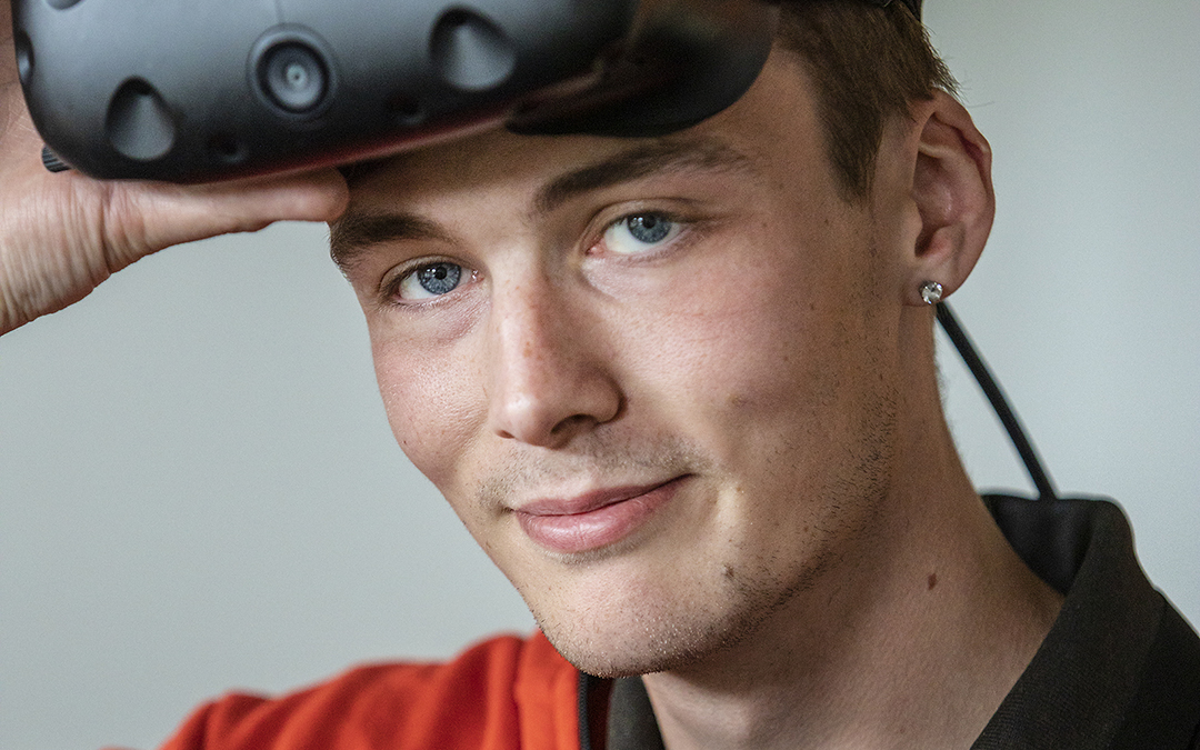 Renault Truck give award to Norwich apprentice.